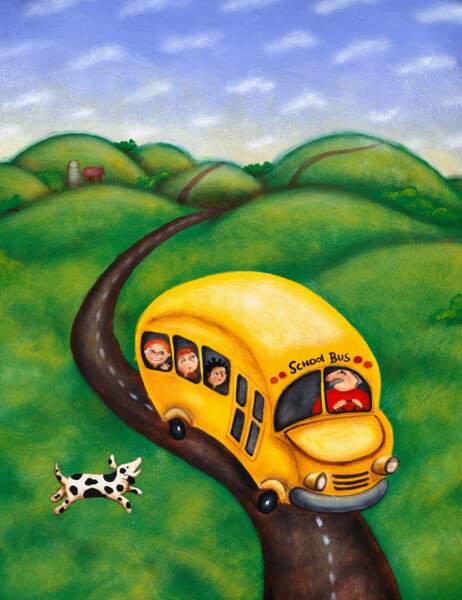 Les roues de l'autobus