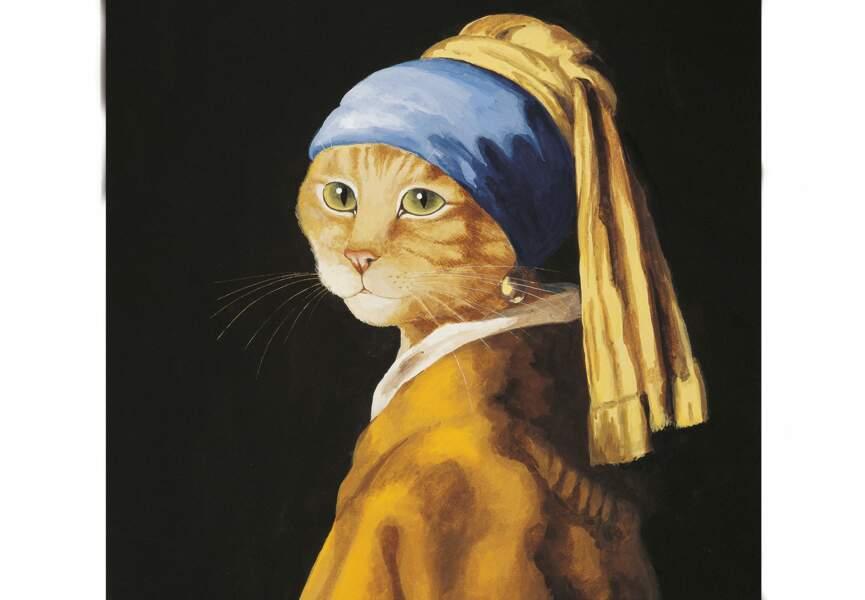 Reconnaîtrez-vous cette oeuvre sous la patte du chat ?