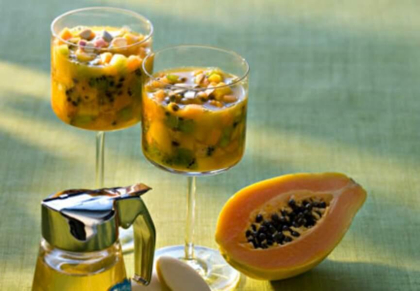 Soupe aux fruits exotiques
