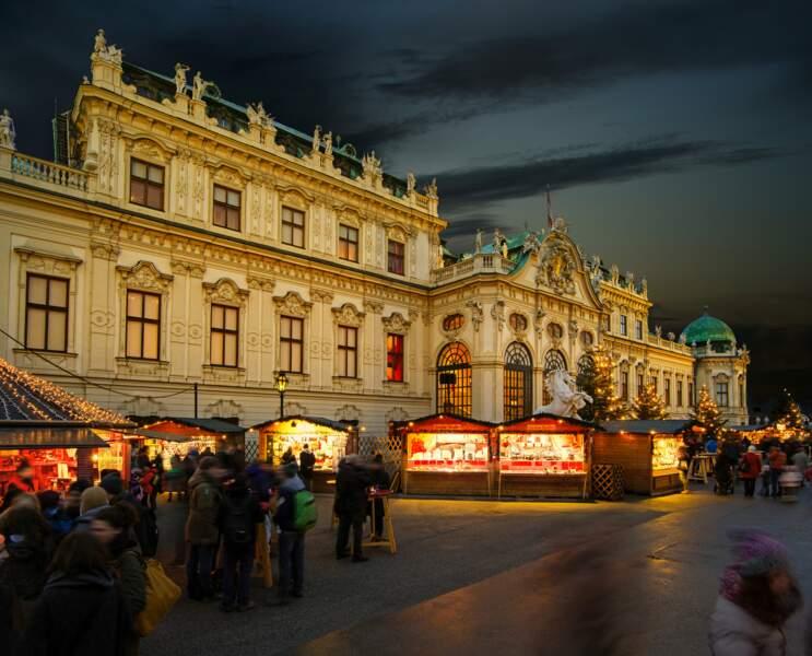 Marché de Noël au palais du Belvédère