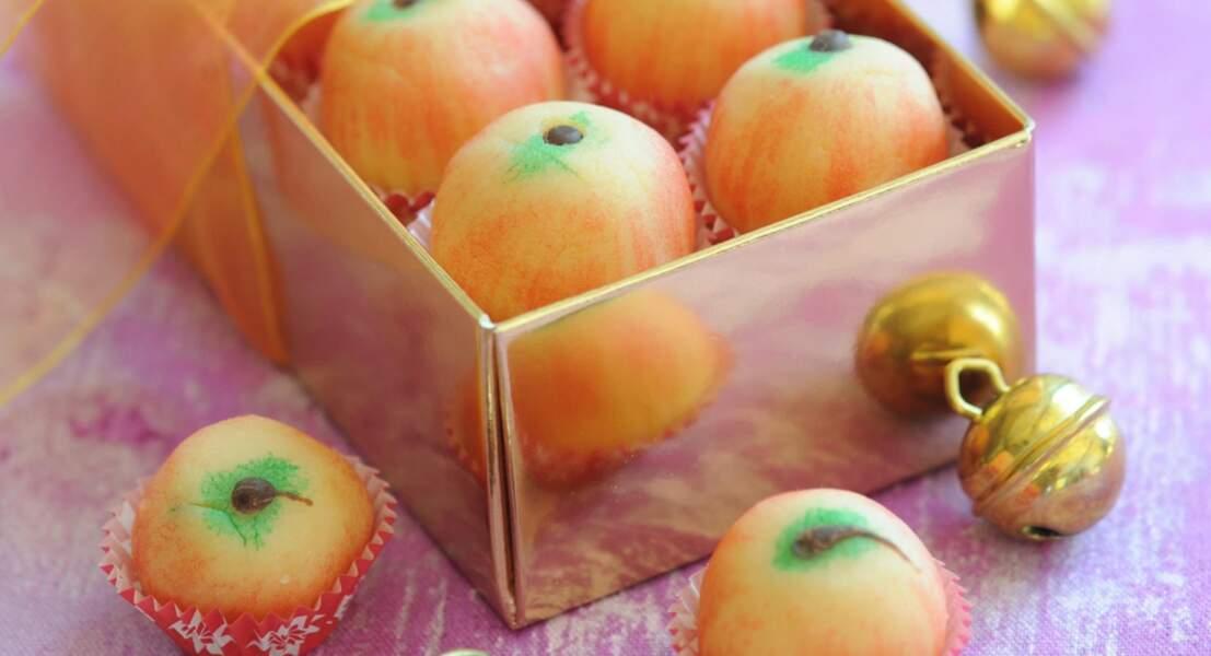 Mini-pommes en massepain