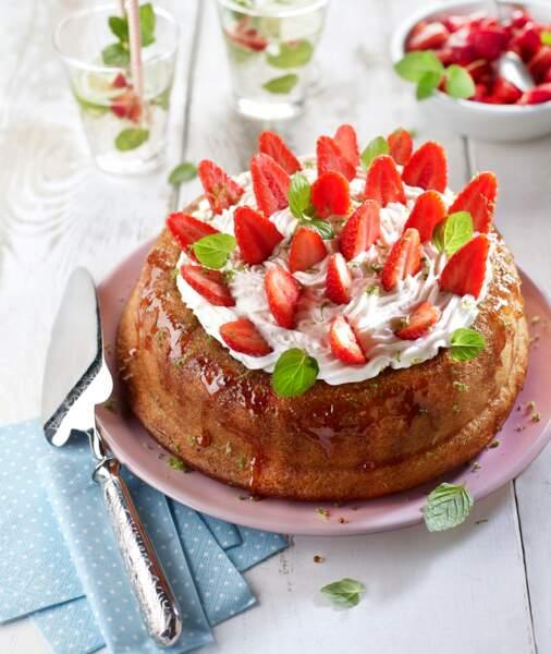 Savarin fraise mojito