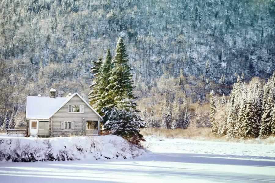 Parc national de la Jacques-Cartier près de Québec.