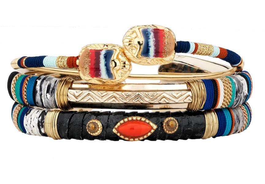 """Tendance bijoux """"stacking"""" : les bracelets ethniques chic"""