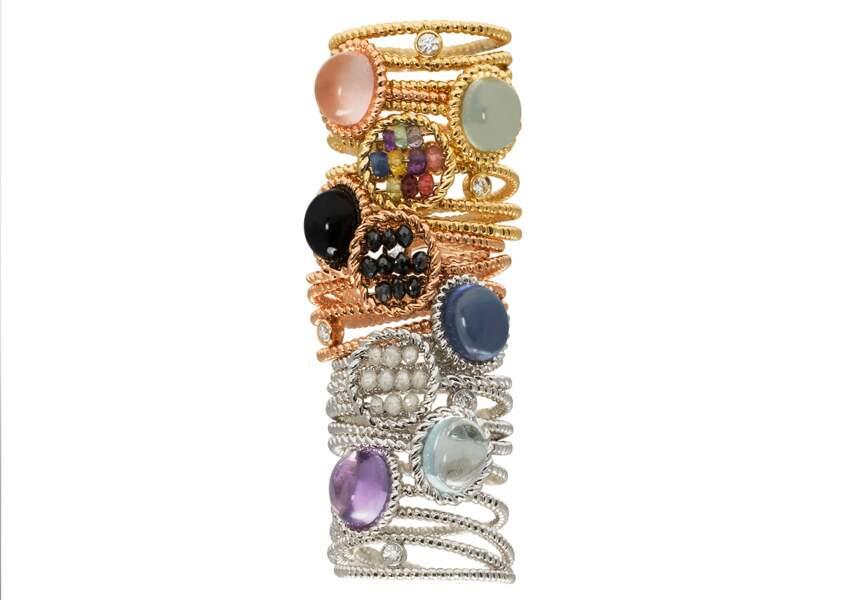 "Tendance bijoux ""stacking"" : les bagues précieuses"