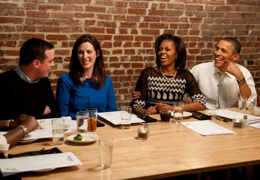 Barack et Michelle Obama faisaient gagner cette année un dîner à un donateur tiré au sort