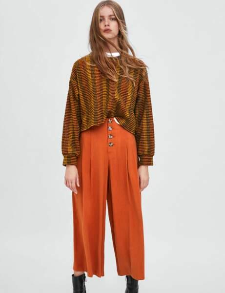 Tendance orange : le pantacourt