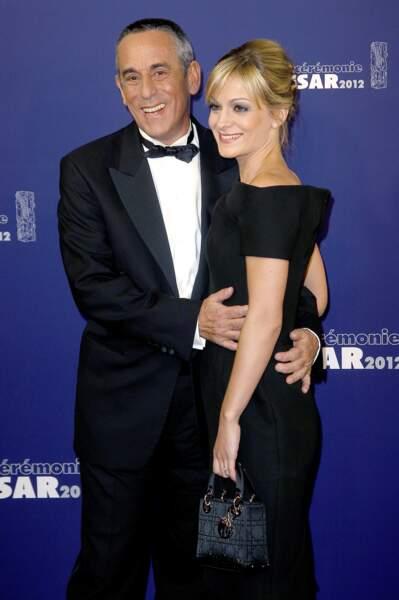 Thierry Ardisson et Audrey Crespo-Mara lors de la cérémonie des César (2012)