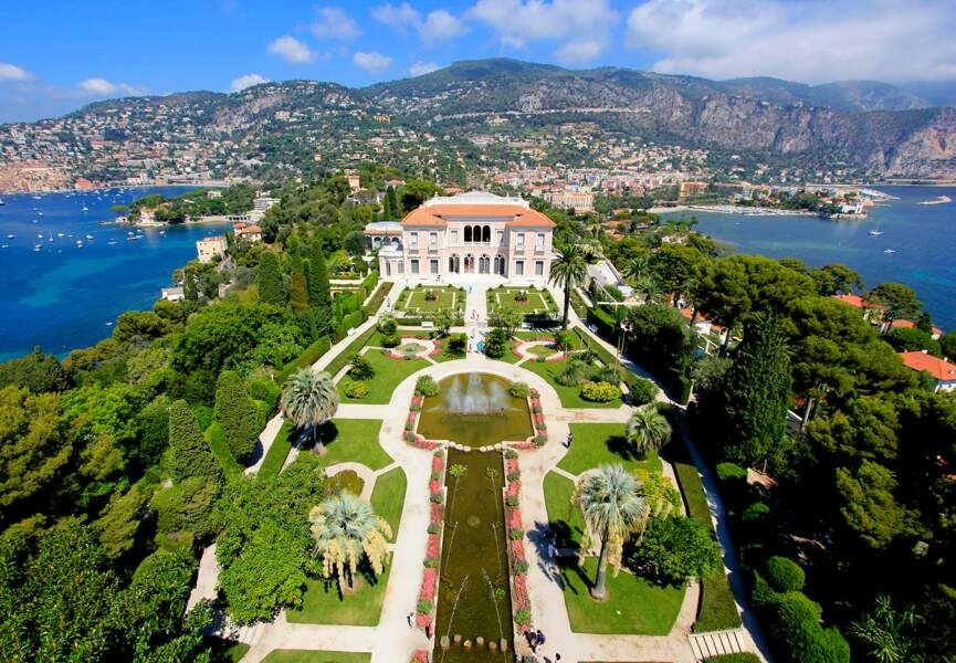 Les jardins de la villa Ephrussi de Rothschild à Saint-Jean-Cap-Ferrat (Alpes-Maritimes)