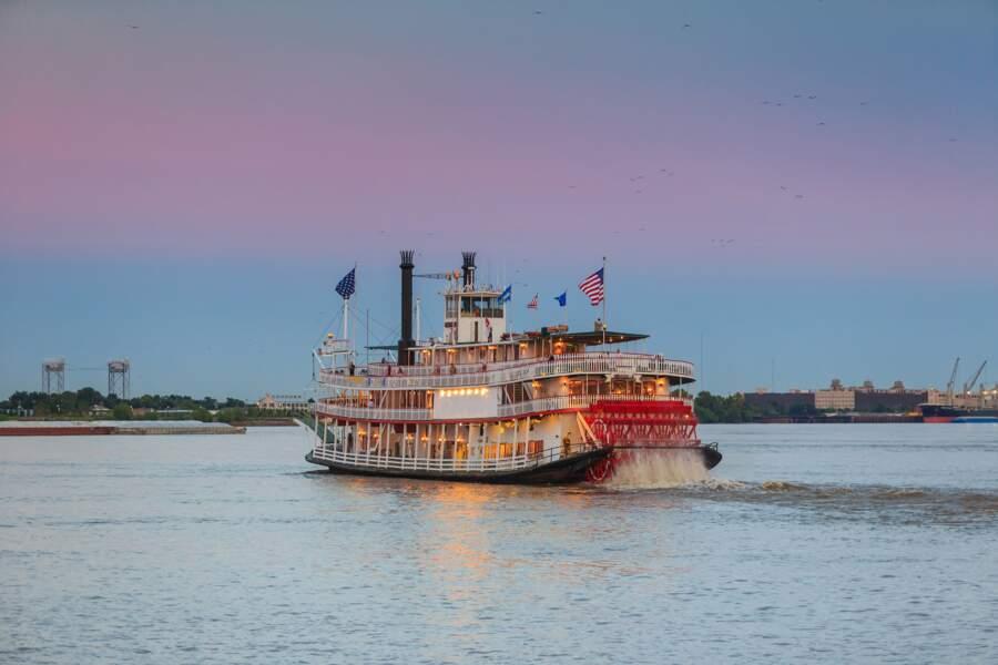 Bateau à aubes sur le fleuve Mississippi