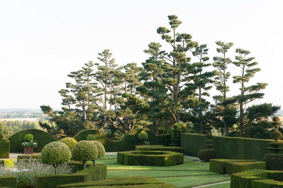Les jardins du château de la Ballue à Bazouges-la-Pérouse (Ille-et-Vilaine)