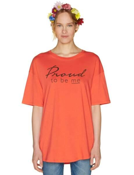 Tendance orange : le tee-shirt à message