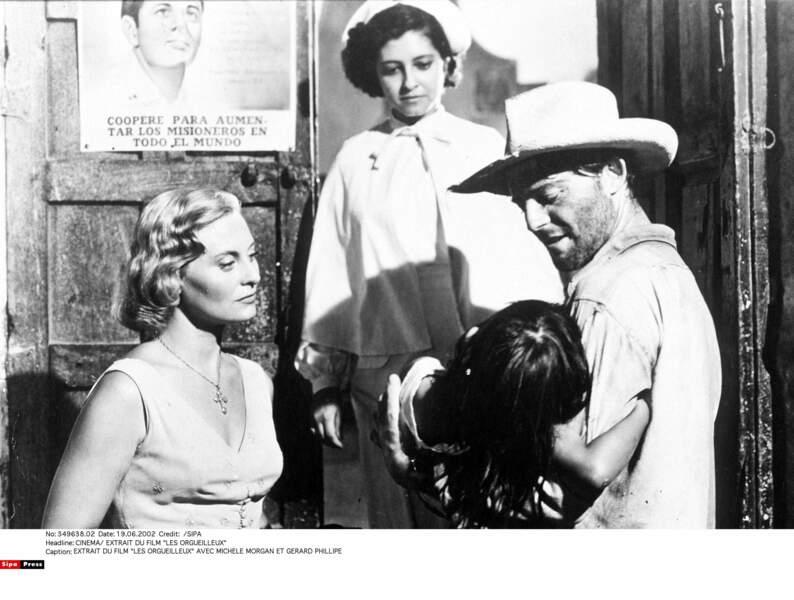 """Elle s'éprend d'un médecin alcoolique (Gérard Philipe) dans """"Les Orgueilleux"""" en 1953"""