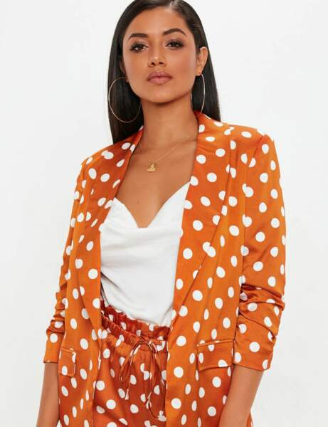 Tendance orange : le blazer pop