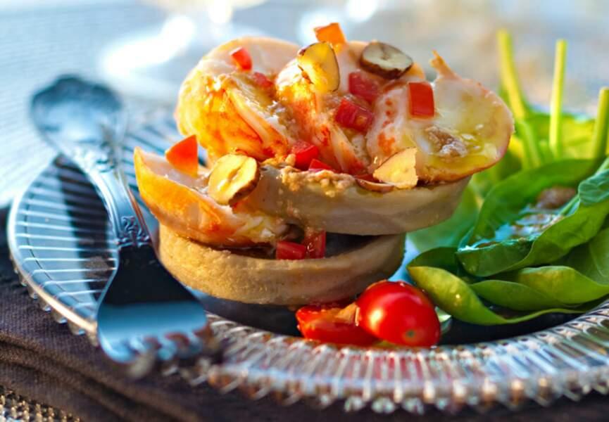 Salade de langouste aux artichauts et noisettes