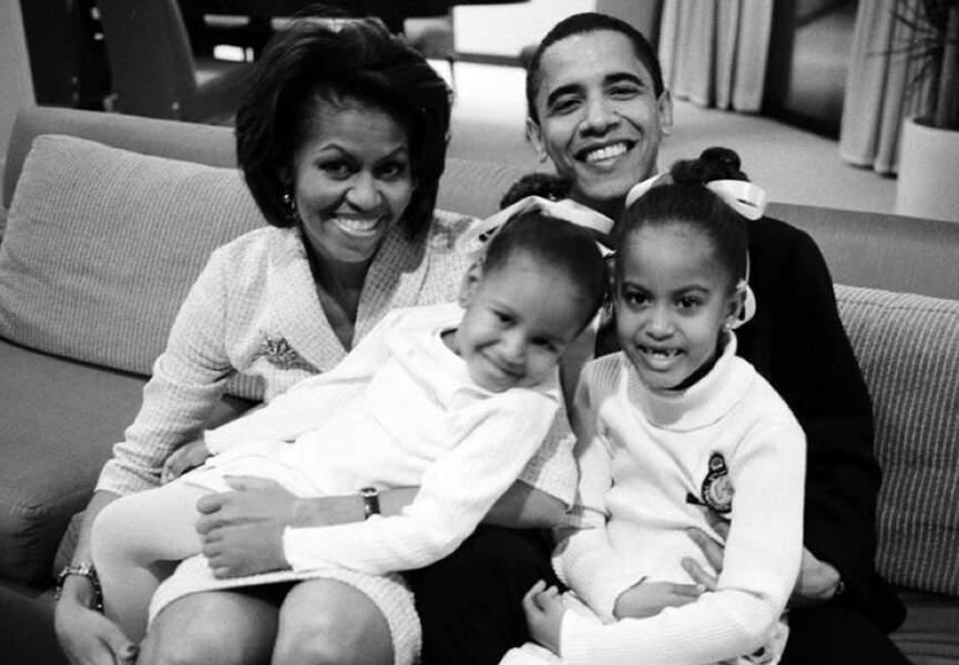 Barack et Michelle Obama ont deux filles, Malia, née en juillet 1998, et Sasha née en juin 2001