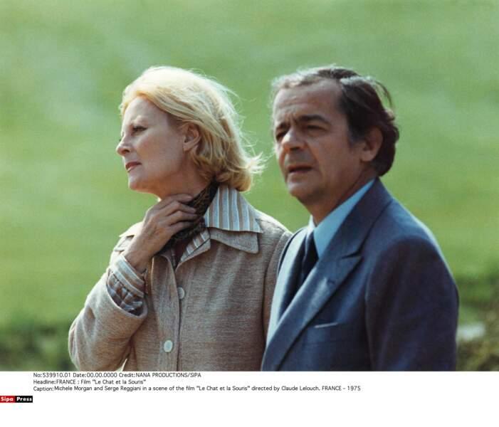 """En 1975, l'actrice joue au """"Chat et (à) la Souris"""" avec Serge Reggiani, son dernier grand rôle au cinéma"""