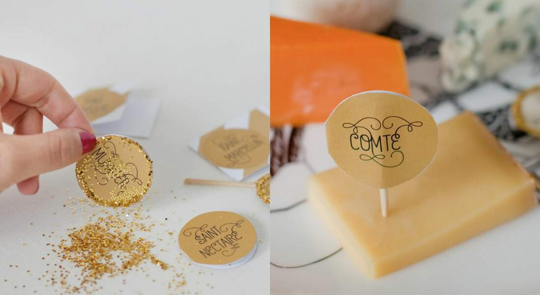 Des étiquettes pour mon plateau de fromages à télécharger !