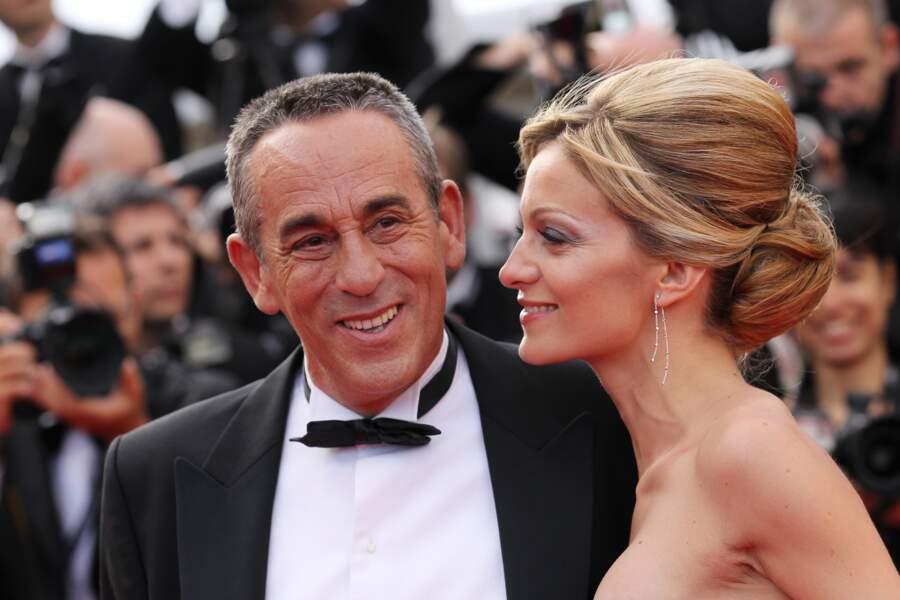 Thierry Ardisson et Audrey Crespo-Mara amoureux au Festival de Cannes (2012)