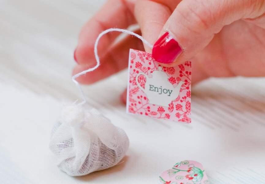 Des étiquettes pour vos sachets de thé