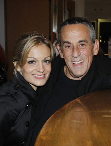 """Thierry Ardisson et Audrey Crespo-Mara à l'avant-première de la pièce """"Des fleurs pour Algernon"""" à Paris (2012)"""