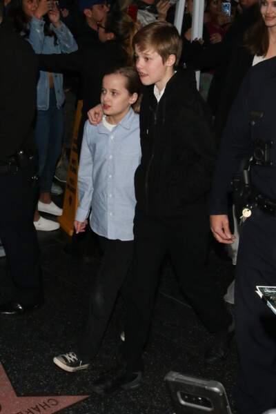 Shiloh (12 ans) avec Vivienne Marcheline (10 ans)