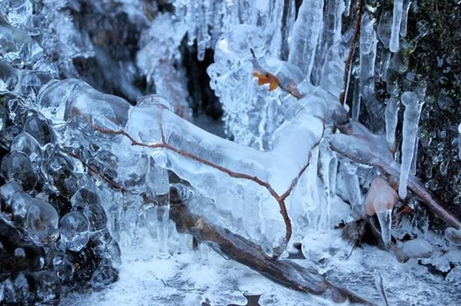 Cascade gelée en Bourgogne