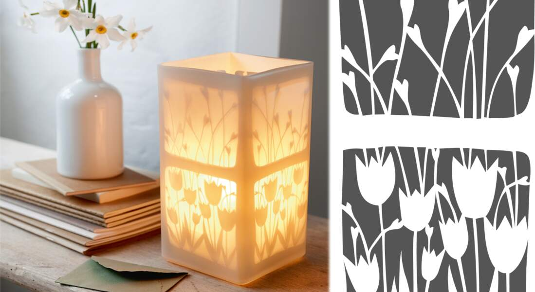 Je fabrique une lampe à motifs végétaux
