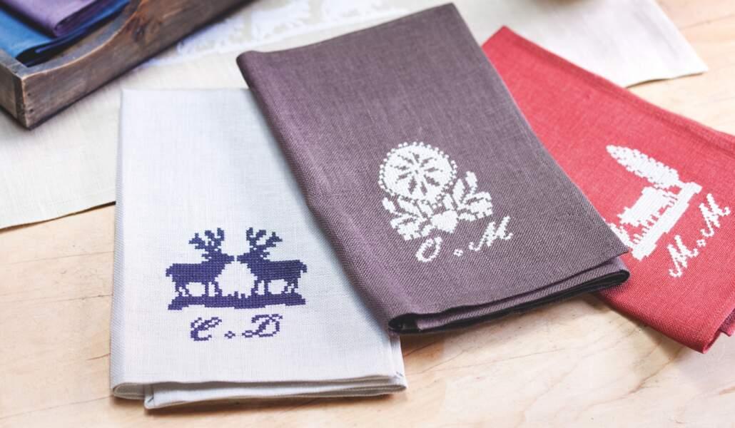 Des serviettes monogrammées