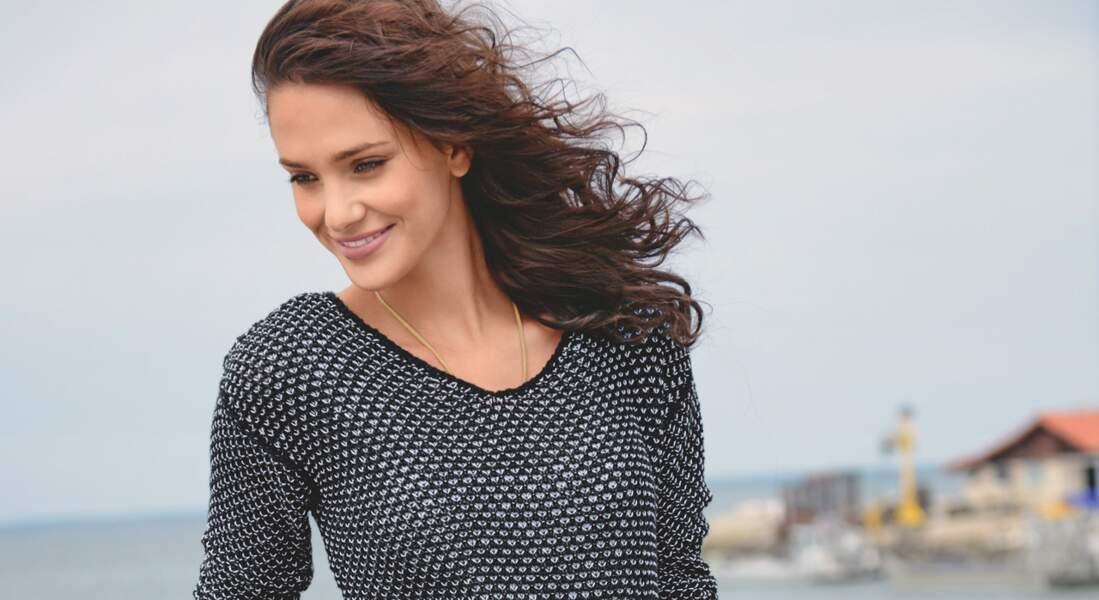 Un pull résille tendance à tricoter