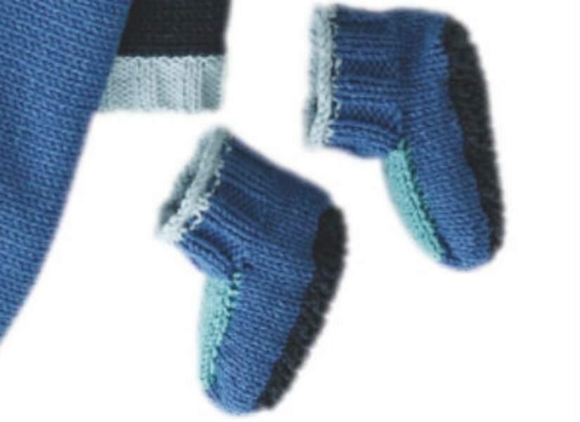 Les chaussons bleus