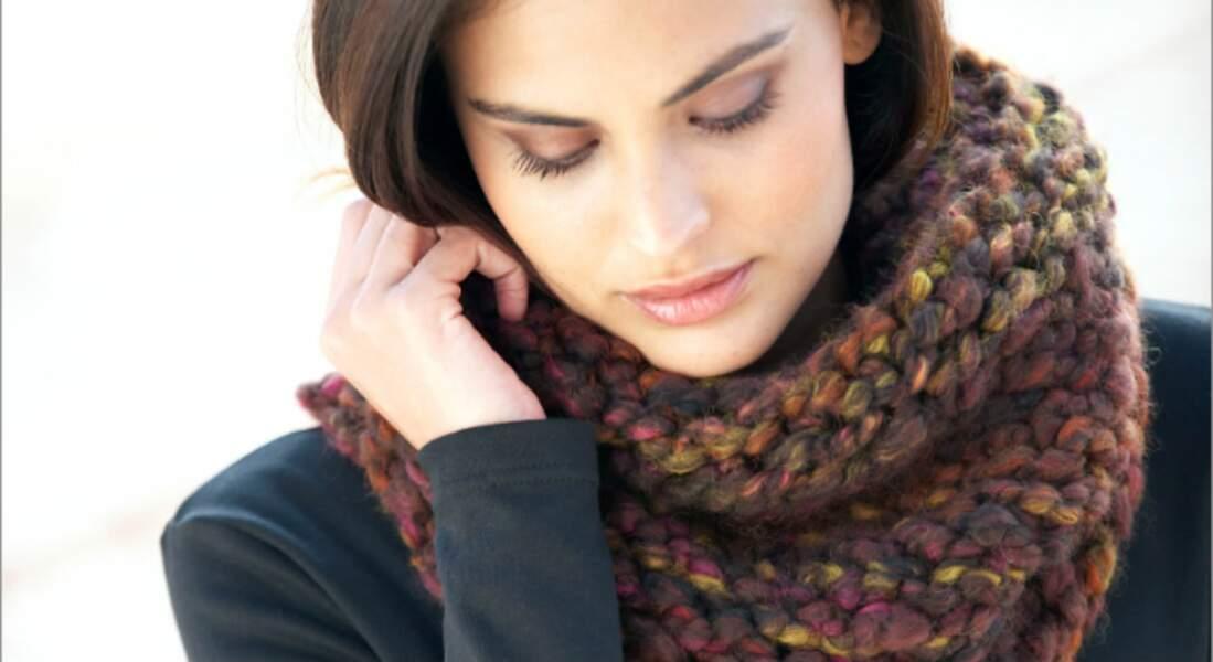 Modèle de tricot gratuit : le snood express