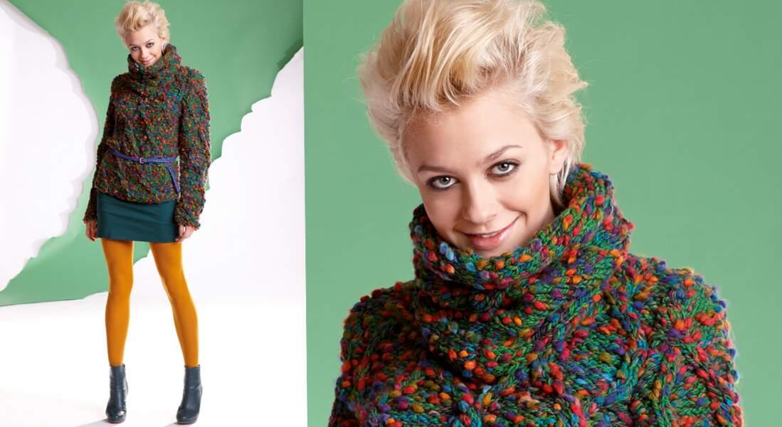 Modèle de tricot gratuit : un pull et son snood