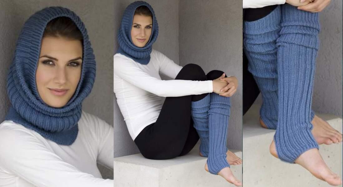 Modèle de tricot gratuit : le snood et ses jambières