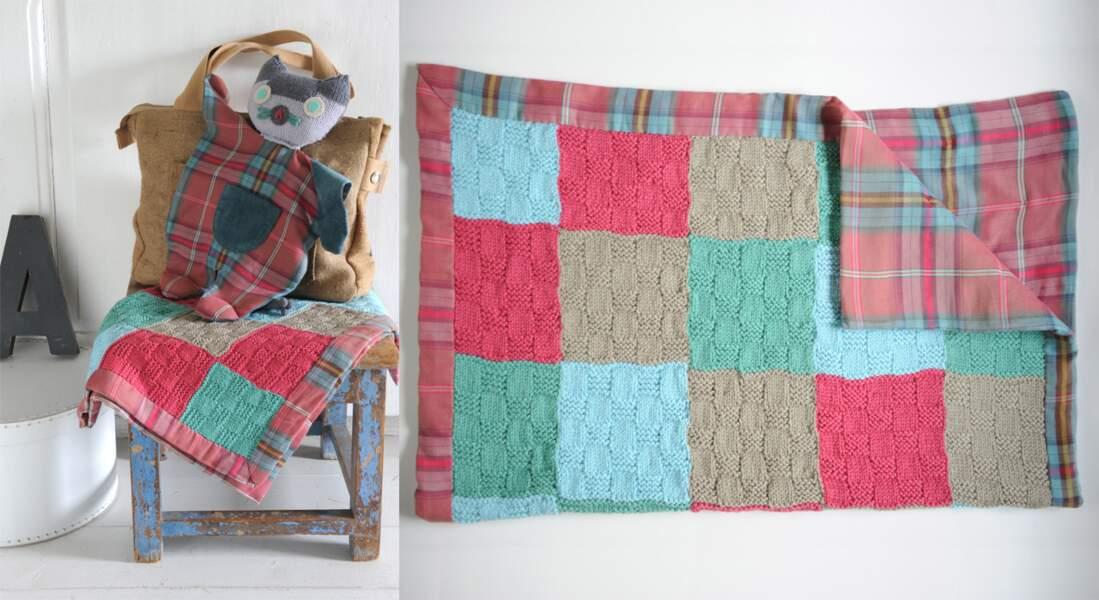 Un plaid à tricoter pour bébé