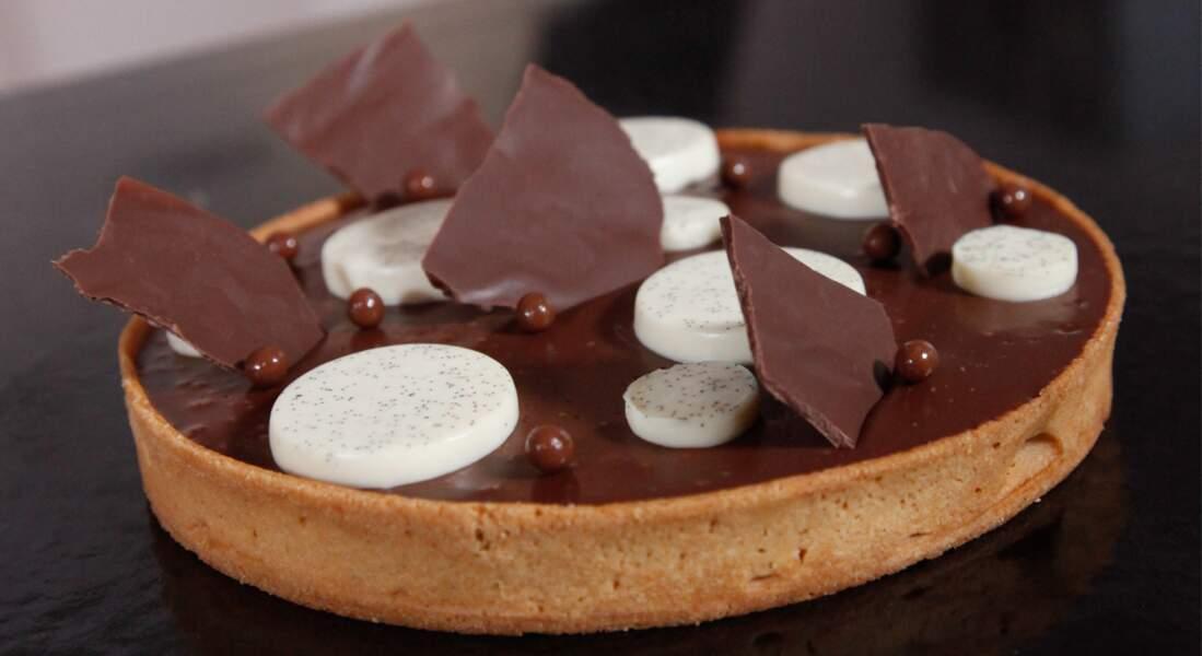La tarte au chocolat, vanille et fleur de sel de Benjamin