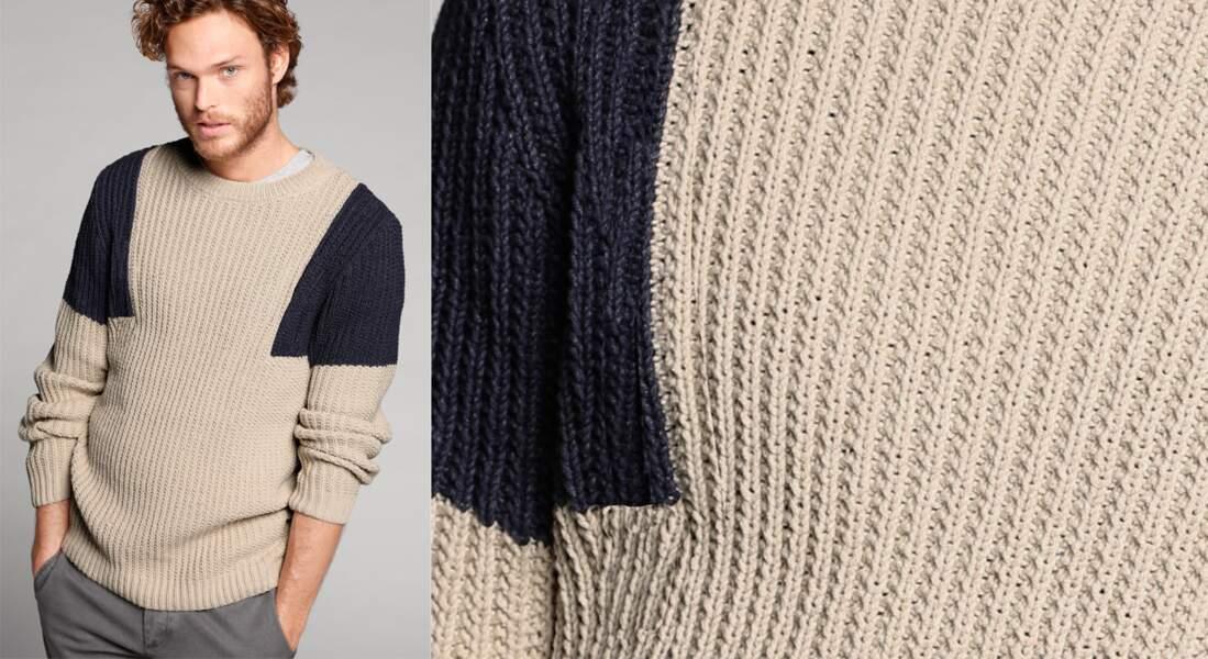 Un pull marin à tricoter