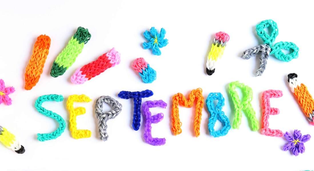 Calendrier Septembre en Rainbow Loom