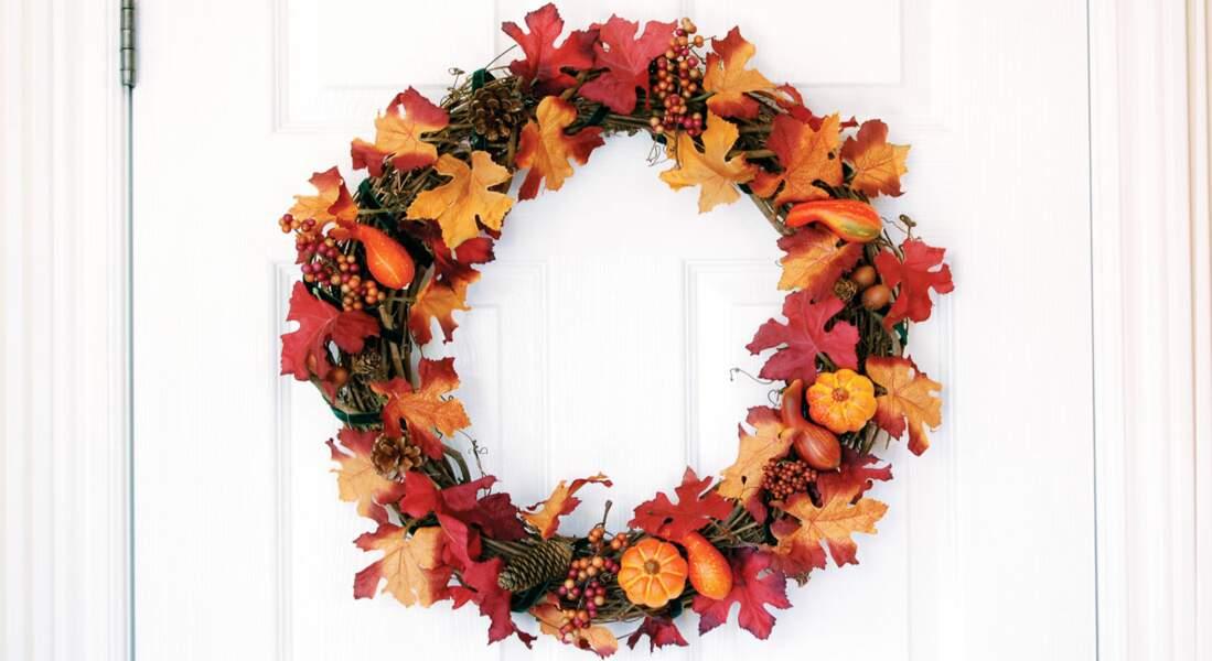 Bricolage : une couronne d'automne