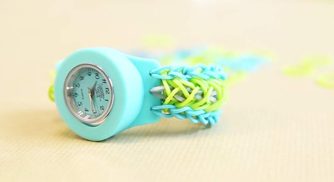 Tuto pour un bracelet de montre Rainbom Loom avec des élastiques