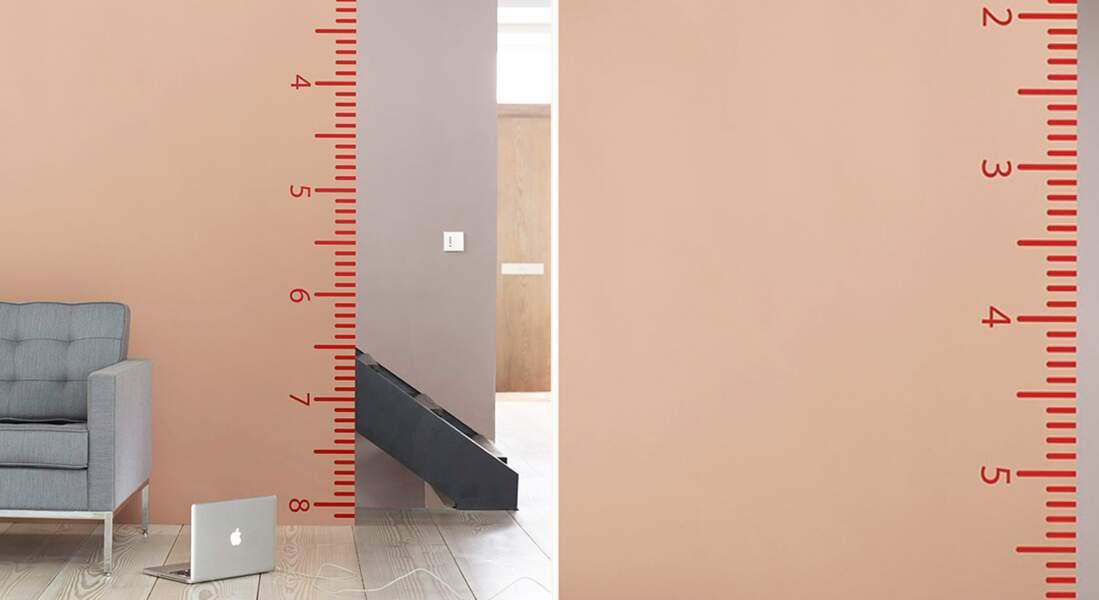 Idée peinture : un pochoir XXL sur mes murs
