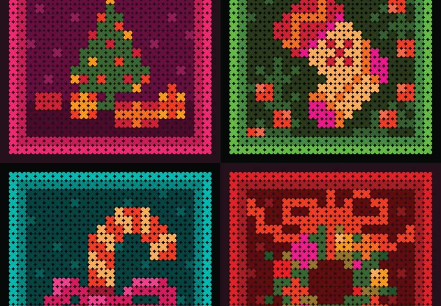 Une grille de Noël