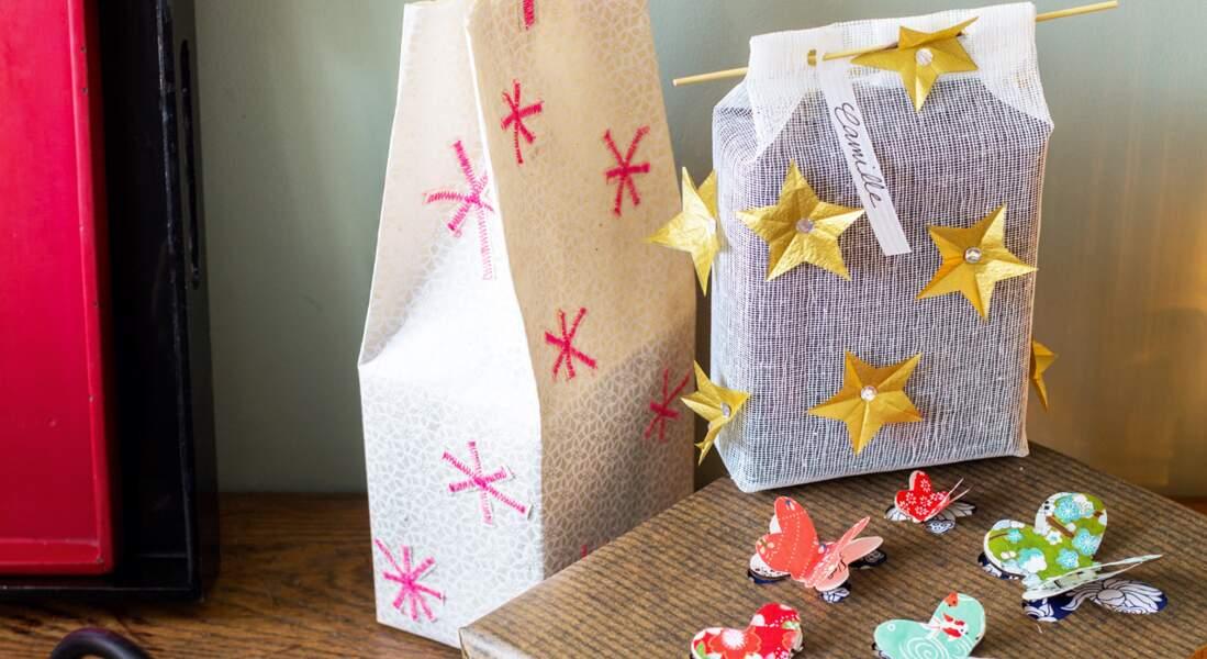 Décorer ses cadeaux de Noël avec des papiers créatifs