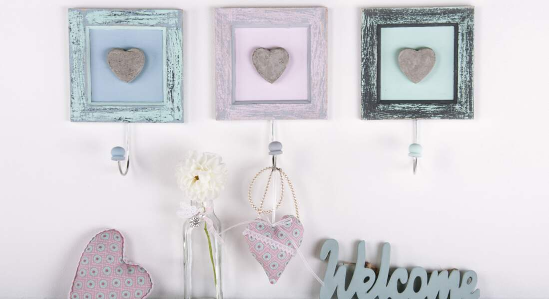 Des cadres déco style shabby chic