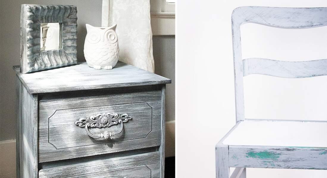Patiner des meubles très facilement