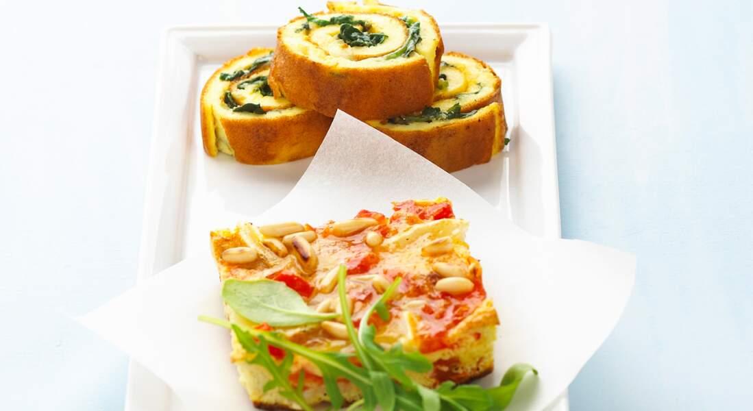 Duo d'omelette à l'italienne