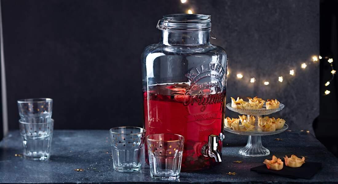 Des corolles surprise et du cocktail Chrismas vodka