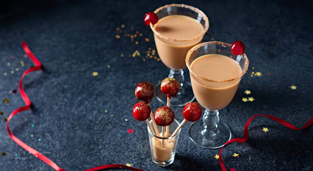 Pommes d'amour salées et cocktail creamy whisky