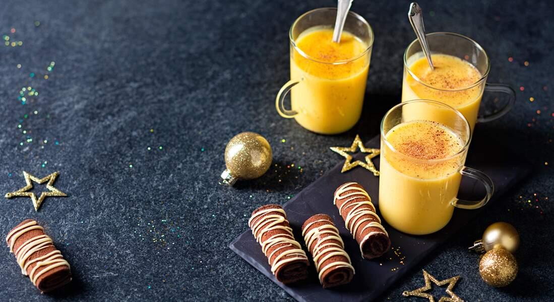 Roulés au chocolat et eggnog