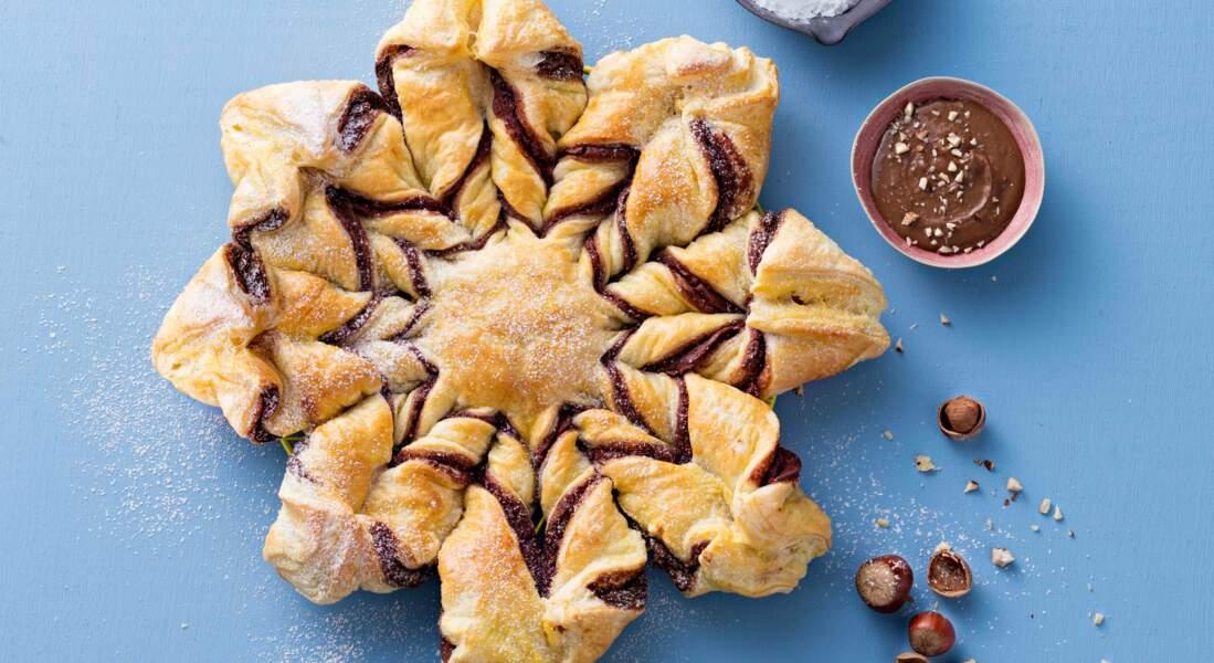 Tarte étoile chocolat noisette